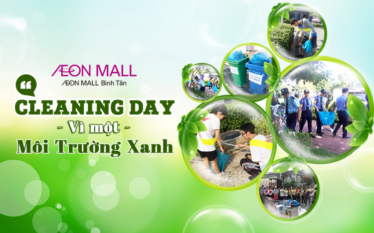 Cleaning Day in AEON MALL Binh Tan