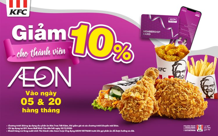 [KFC] Discount 10% for monthly member day