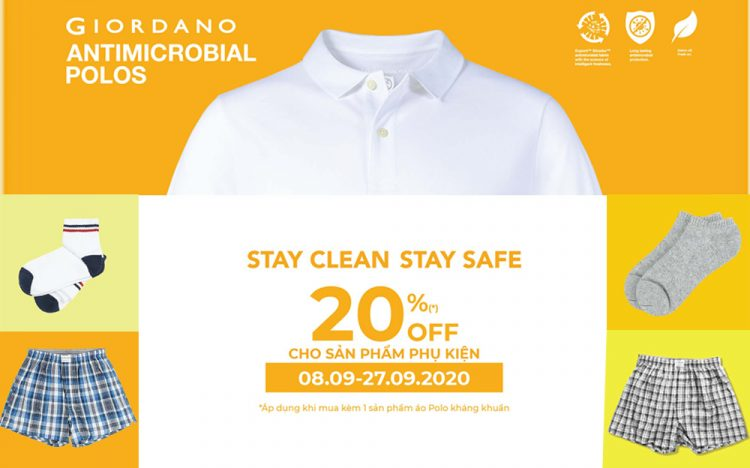 GIORDANO – STAY CLEAN – STAY SAFE