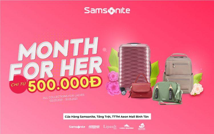 SAMSONITE – MONTH FOR HER