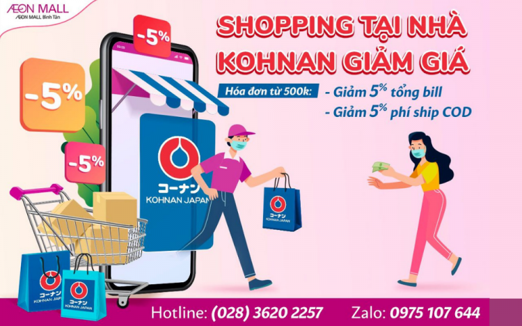 KOHNAN – DISCOUNT 5% WITH DELIVERY SERVICE