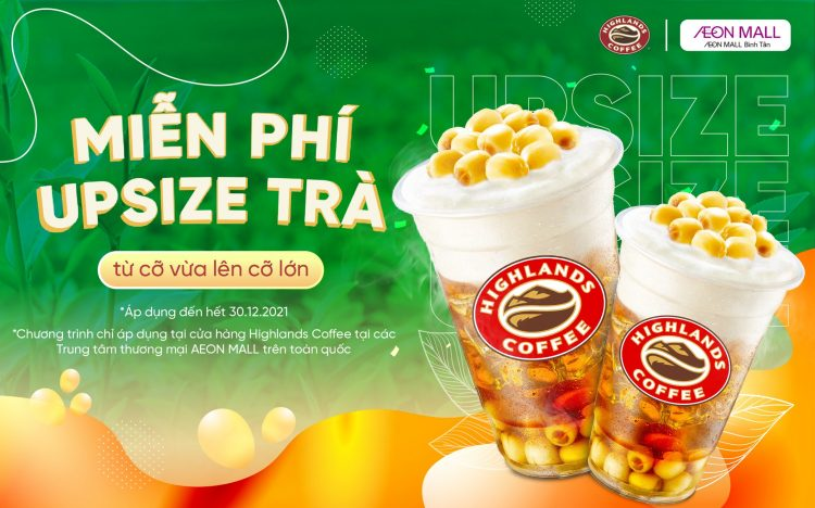 FREE UPSIZE E-VOUCHER FROM HIGHLANDS COFFEE FOR APP MEMBER