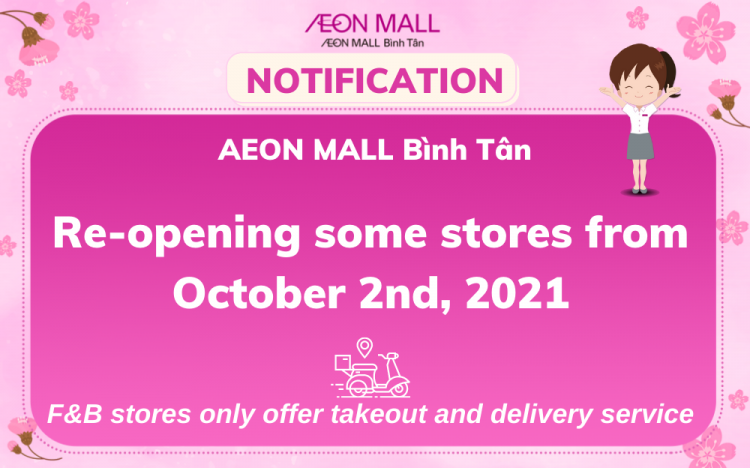STORES OPERATION UPDATE AT AEON MALL BINH TAN